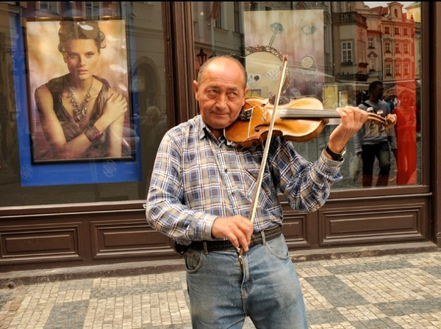 Street Musician, Prague, Czech Republic