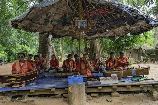 Musicians who are victims of landmines, Banreay Srei, Cambodia