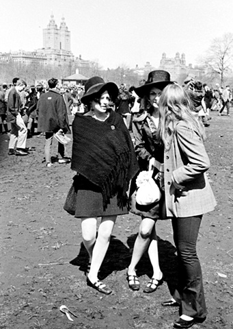 Young women at Love-In, Central Park, New York