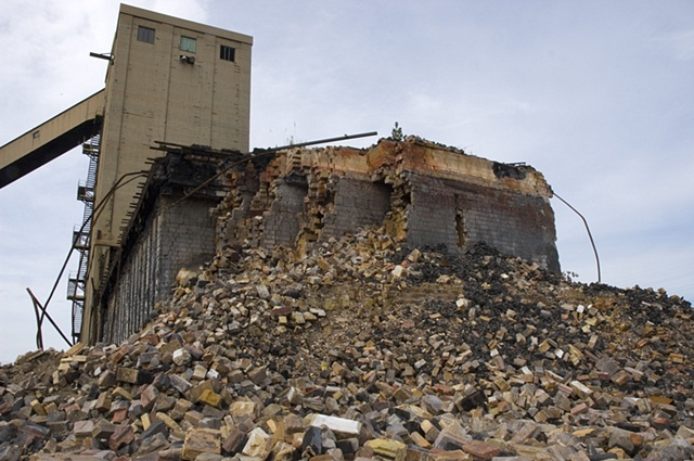 Rubble, Ruins of Acme Steel and Coke Plant, Calumet, Chicago