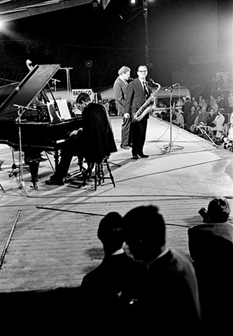 Al Cohn and Zoot Sims, with Lloyd Miller, piano, Bilzen Jazz Festival, Belgium