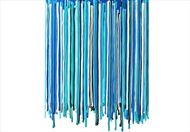 blue and turquoise fringe painting by Julee Latimer