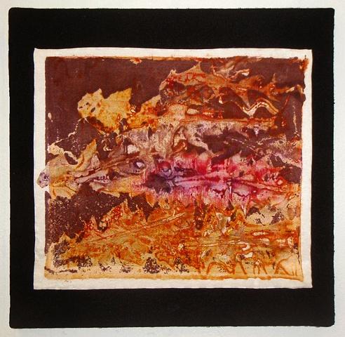 hand-dyed, plant-based art, fiber-reactive dye, leaf art, abstract textile art, weed-based art