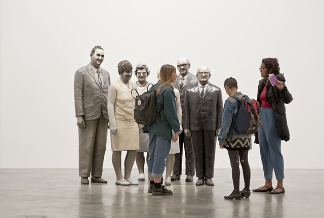 """Group of Teachers"" by Martin Honert at Matthew Marks Gallery, New York."