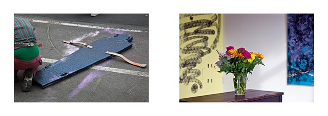 Diptych: Performance, Independent Art Fair, NY 2012/Gallery, Bushwick NY 2012.