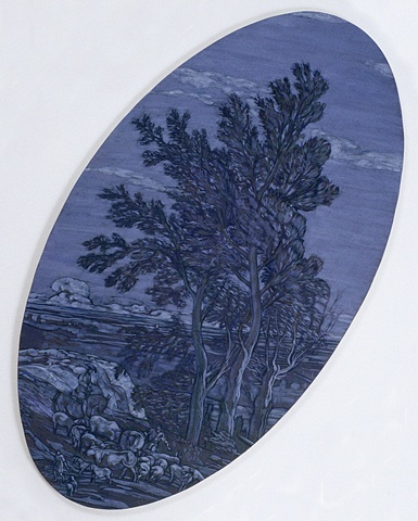 Sliding Landscape (blue grey)   Source: Extensive Pastoral Landscape, Marco Ricci, 1730, Metropolitan Museum of Art, New York