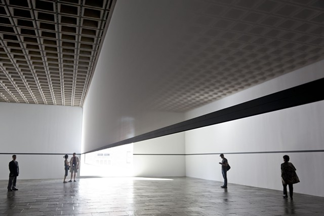 A 1977 piece by Robert Irwin recreated for the Whitney Museum, New York.