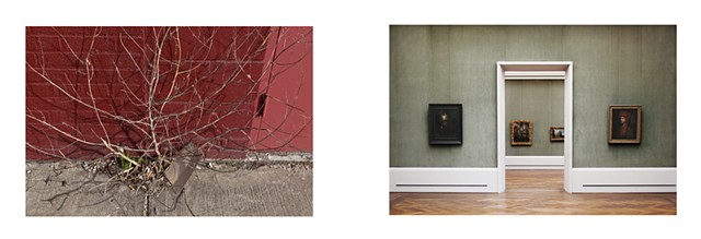 Diptych: Gallery District, Bushwick NY, 2012/Rembrandt, Gemaldegalerie, Berlin 2013
