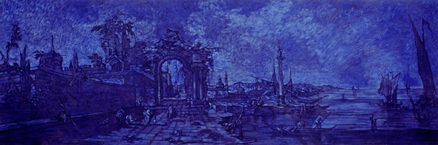 Fantasy Landscape (diminished ultra blue long)  