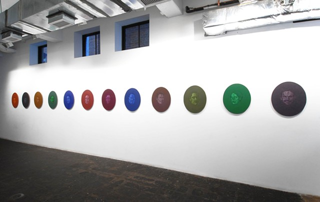 Floating Faces, Installation, Flashpoint Gallery, Washington, DC, 2008