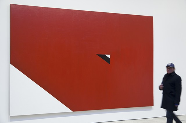 """Upside Down Triangle"", 1966, from the series ""Alphbet Paintings by Al Held at Cheim and Read gallery, New York."