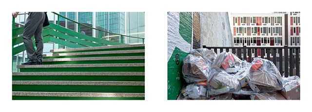 Diptych: Art Basel Exhibition Hall 2011/Recycling, Brooklyn NY 2011