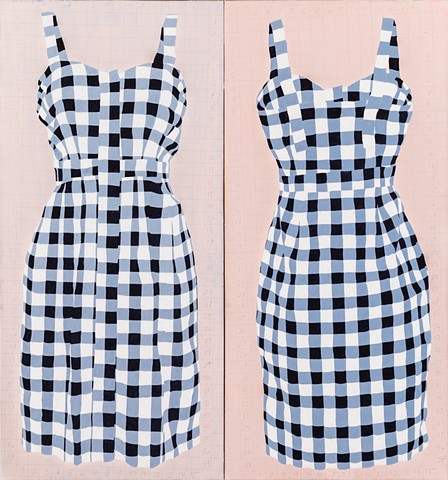 Gingham Dress Diptych