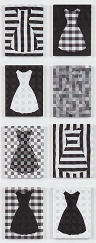 dress grid (installation view; set of 8)
