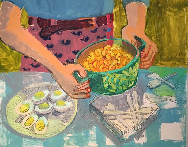 Macaroni and Cheese Deviled eggs still life Ashley Norwood cooper