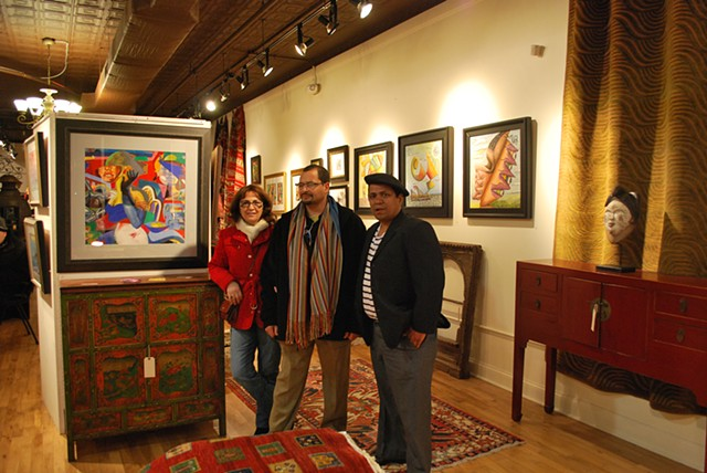 Juan Gomez , Guest, and Pedro Fuller: at the International Excursions Exhibit in Philadelphia, 2011