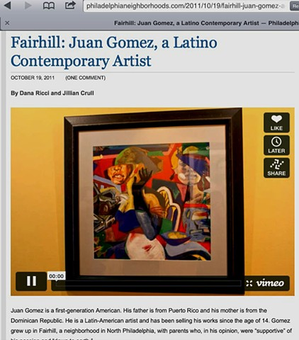 Fairhill Neighborhood article, audio/visual 2011 internet interview.