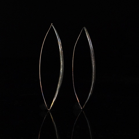 Oil Slick Toothpick Earrings