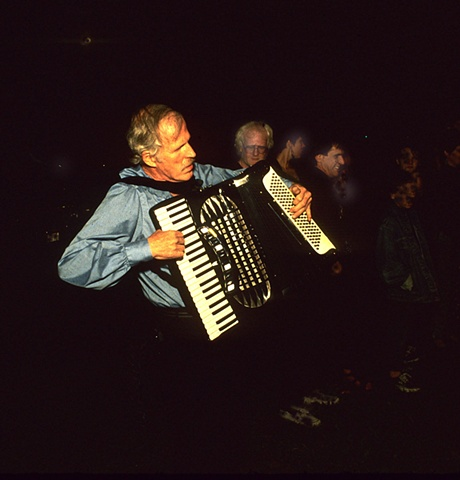 Burial - Ben Whitmore on accordion 8 pm, August 26, 1988