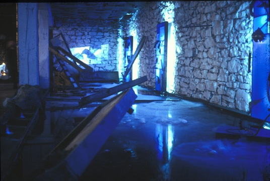Subtitle Zone 1997 art remains, water and dry ice