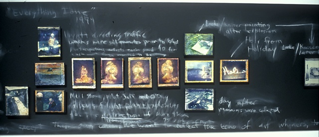 Lost Itinerary 2006 Polaroids on painted chalkboard