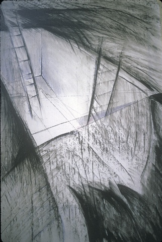 Burial  1988 preliminary drawing for the performance/installation