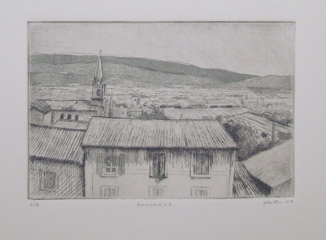 Bonnieux Etching
