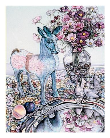 colored pencil still life archival print