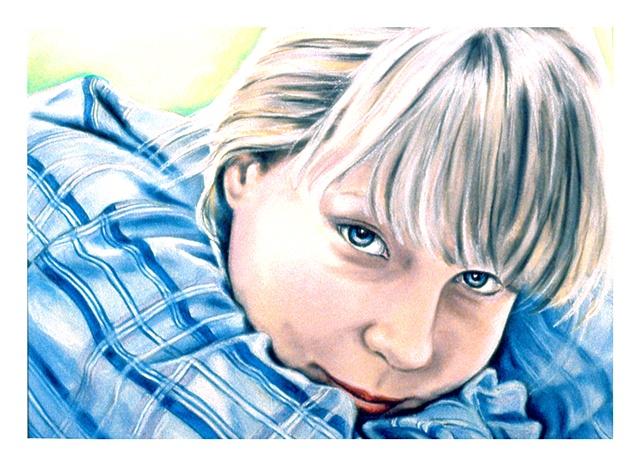 pastel portrait archival print