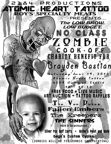 The Low Brow, Low Budget, Low Class Zombie Cook Off Benefit For Brayden Bastian