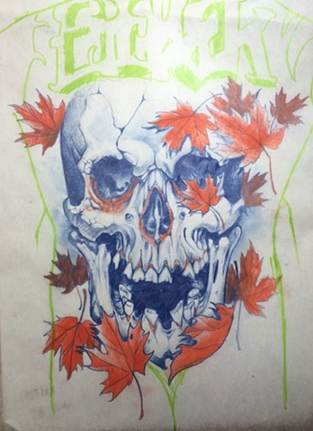 Skull n Maple Leaves