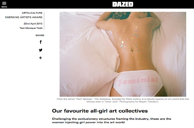 Go! Push Pops in DAZED Magazine