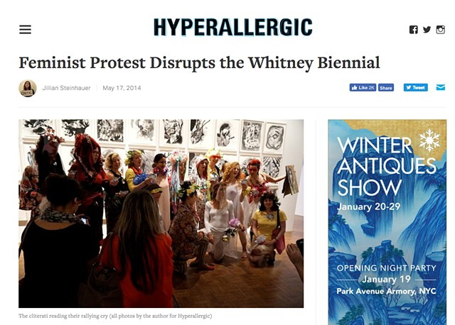 Feminist Protest Disrupts the Whitney Biennial