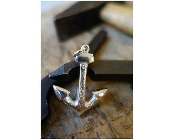 Anchor - recycled silver from handcarved model