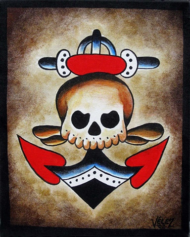 Bert Grimm Skull and Anchor