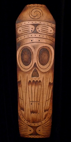 Taino Skateboard Carving and Painting