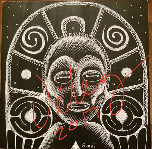 Atabey (Earth Mother) Scratchboard