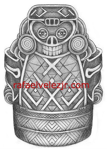 Taino Artifact Redrawn
