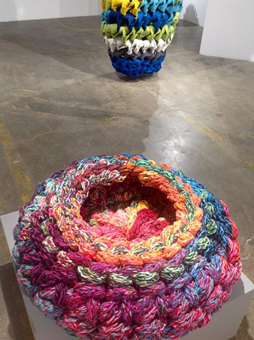 Yarn Bowl with Thumb in background, 2016