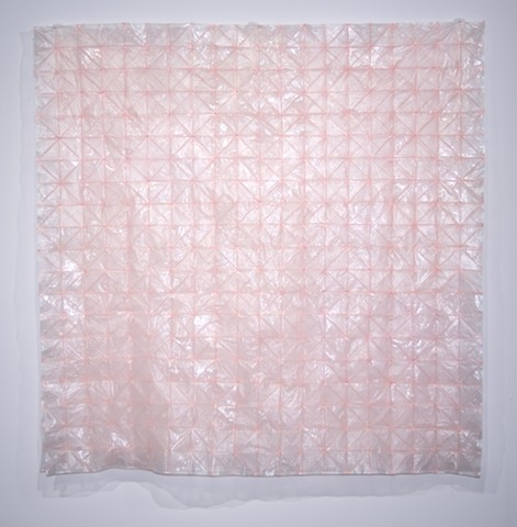 Blush, 2016, sewn cereal box liners (photo courtesy of Barbara Lynch-Johnt)