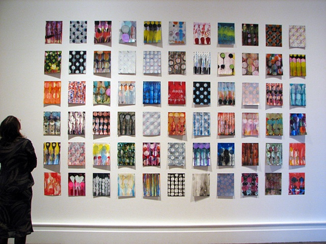 Installtion of 66 Small Paintings at the Albright Knox Art Gallery, Beyond In 2007