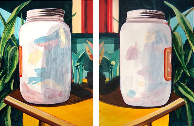 Jordan Buschur painting of jars