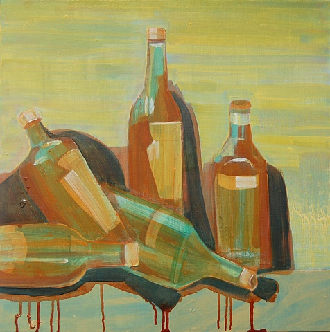 The Still Life (Sauce Bottles with Drips)