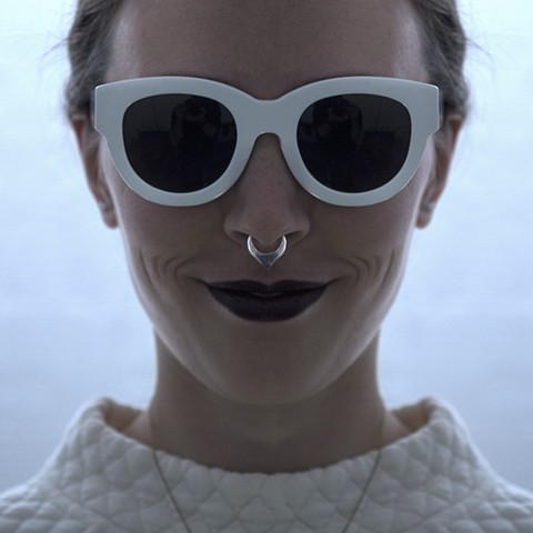 GEONEO Faux Septum Ring silver