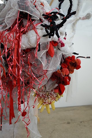 """Bambi's Mom (had it coming)"" by Alicia Renadette / as installed at Occam Projects, Providence, RI"