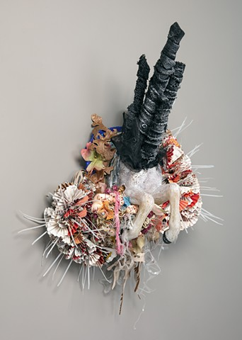 """Coming of Age"" assemblage sculpture by Alicia Renadette"