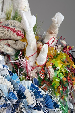 "detail :""Regenerate"" mixed-media soft-sculpture by Alicia Renadette"