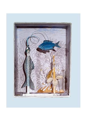 Mädchen mit blauem Fisch (Girl with Blue Fish)