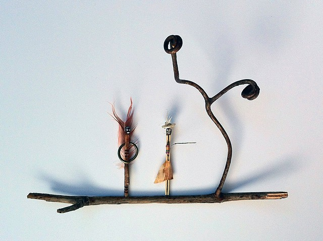 matchsticks, found objects, miniature, sculpture