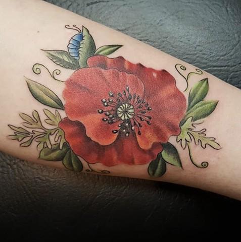 Poppy Tattoo by Sandra Burbul